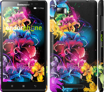Чехол на Lenovo Vibe Z K910 Абстрактные цветы