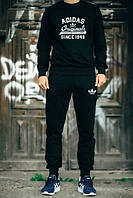Мужской Спортивный костюм черный Adidas Originals черный (реплика)
