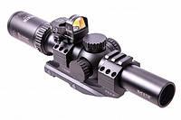 200437 Приціл оптичний Burris M-Tac 1X-4X-24mm ILLUM Ball C/Q matte