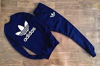 Мужской Спортивный костюм т.синий Adidas(с большим принтом) (реплика)