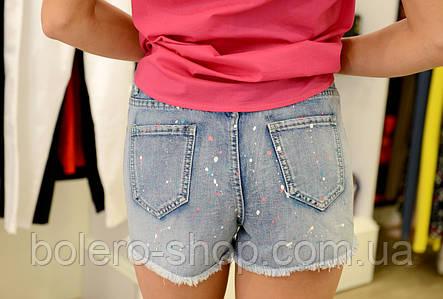 Женские шорты джинсовые короткие в краске Италия, фото 2