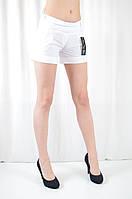 Шорты легкие летние женские белые с карманами