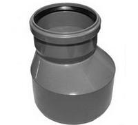 Переход (бутылка) ПВХ Wavin с раструбом и уплотнительным кольцом для внутренней канализации серый 110х75