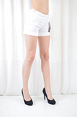 Шорты легкие летние женские белые с карманами, фото 3