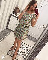 Летнее платье из креп-шифона.  Платья. Магазин одежда. Одежда интернет. Женская одежда.