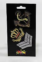 """Термонаклейки на текстиль """"якорь и корона"""""""