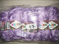 Турецкая пряжа для вязания нитки Alize  DECOFUR (Декафур) травка 47 сирень