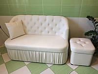 Мягкая кухонная мебель по размерам кухни (Белая)