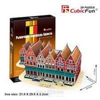 3D пазл CubicFun C Series Рыночная площадь Брюгге