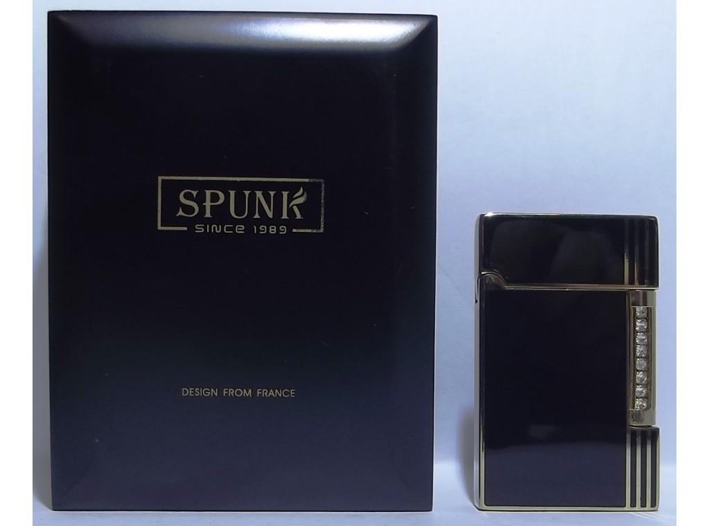 Подарочная кремниевая зажигалка SPUNK в деревянной упаковке PZ3671