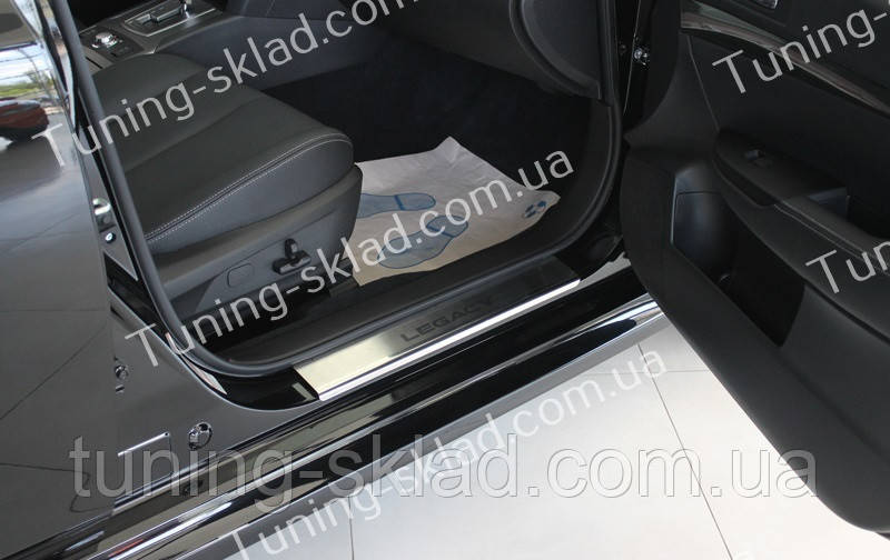 Накладки на пороги Subaru Legacy B5 (накладки порогов Субару Легаси Б5)