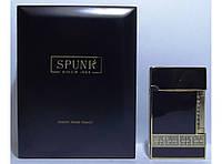 Подарочная кремниевая зажигалка SPUNK в деревянной упаковке PZ3672