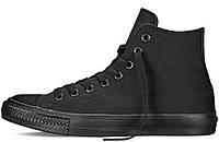 Мужские высокие кеды Converse All Star (конверсы) черные
