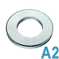 Шайба плоская нержавеющая А2 DIN 125