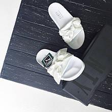 Только размер 36 и 39 !!!! Женские тапки Puma x Fenty By Rihanna Slide White