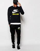 Мужской Спортивный костюм Nike Track&Field Найк чёрный (большой принт)