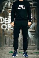Мужской Спортивный костюм Nike Air Найк черный (большой принт) (реплика)