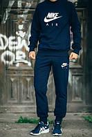 Мужской Спортивный костюм Nike Air Найк темно-синий (большой принт) (реплика)