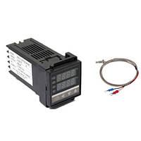 Цифровой ПИД-регулятор температуры REX-C100FK02-V*AN + термопара, OUTPUT SSR