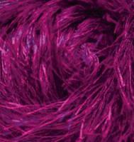 Турецкая пряжа для вязания нитки Alize  DECOFUR (Декафур) травка 621 темная фуксия