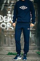 Спортивный костюм Umbro Умбро темно-синий (большой белый принт) (реплика), фото 1