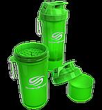 Бутылка - шейкер Smart Shake для спортивных коктейлей с поилкой 400 мл. Голубой, фото 6