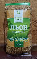 Лен золотой семена - белок, клетчатка, Омега 3, защита, ЖКТ, очищение, похудение, польза, 300 гр. Украина
