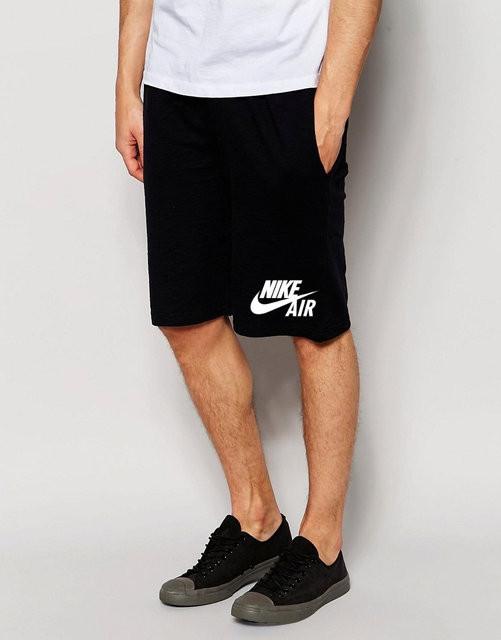 f72e80fed9eb6 Шорты мужские Nike Air Найк черные (большой принт) (реплика ...