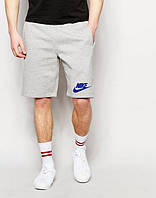 Шорти чоловічі Nike Найк сірі (маленький принт) (репліка)