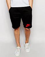 Шорти чоловічі Nike Найк чорні (маленький принт) (репліка)
