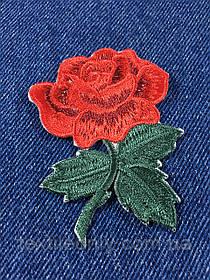Нашивка Роза s цвет красный