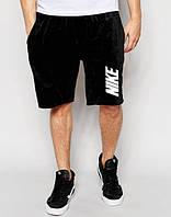 Шорти чоловічі Nike Найк чорні (великий принт) (репліка)