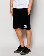 Шорти чоловічі Adidas Адідас чорні (маленький принт) (репліка)