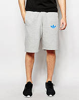 Шорти чоловічі Adidas Адідас сірі (маленький принт) (репліка)