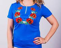 Женская футболка из натурального материала , с вышивкой, фото 1