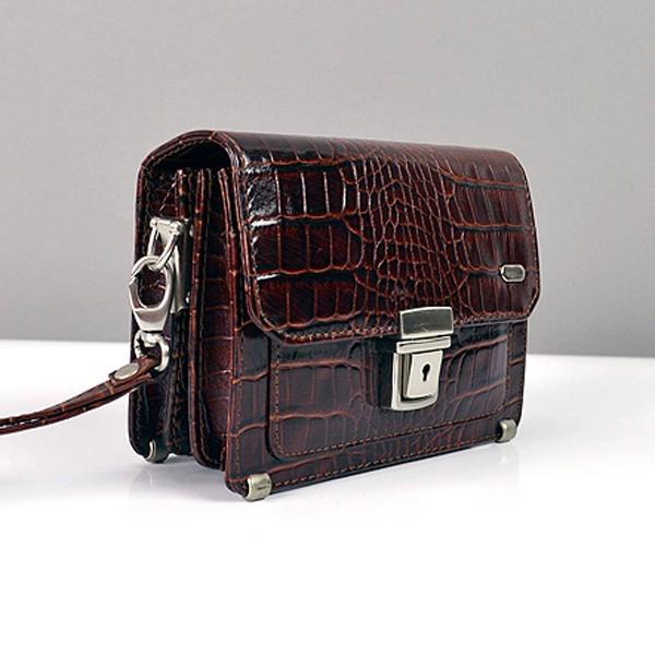 dcac30fbaae0 Мужская кожаная барсетка маленькая на пояс цвет кофе - Интернет магазин  сумок SUMKOFF - женские и