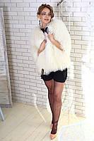 Жилет из меха лами (белый) Модель 200627