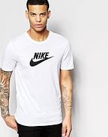 Футболка мужская Nike Найк белая (большой  принт) (реплика), фото 1