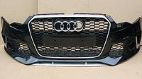 Передний бампер RS6 Ауди А6 (кузов С7) с решеткой