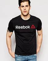 Футболка мужская Reebok Рибок черная (большой принт) (реплика), фото 1
