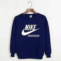 Свитшот мужской с Nike Sportswear Найк Кофта темно-синяя (реплика)