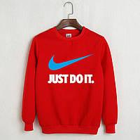 Свитшот мужской с принтом Nike Just Do It Найк Кофта красная (реплика)
