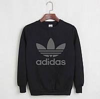 Свитшот мужской с принтом Adidas Адидас Кофта черная (реплика)
