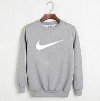 Свитшот мужской с принтом Nike Найк Кофта серая (реплика)