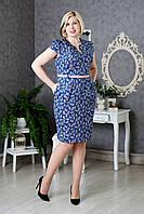 Женское платье с пояском р.50-54 V289-01