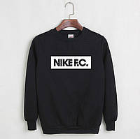 Свитшот мужской с принтом Nike F.C. Найк Кофта черная (реплика)