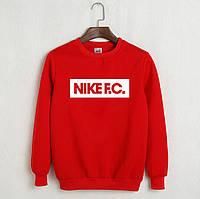 Свитшот мужской с принтом Nike F.C. Найк Кофта красная (реплика)