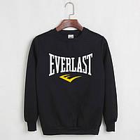 Свитшот молодежный с принтом Everlast Кофта черная (реплика)