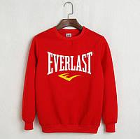 Свитшот молодежный с принтом Everlast Кофта красная (реплика)