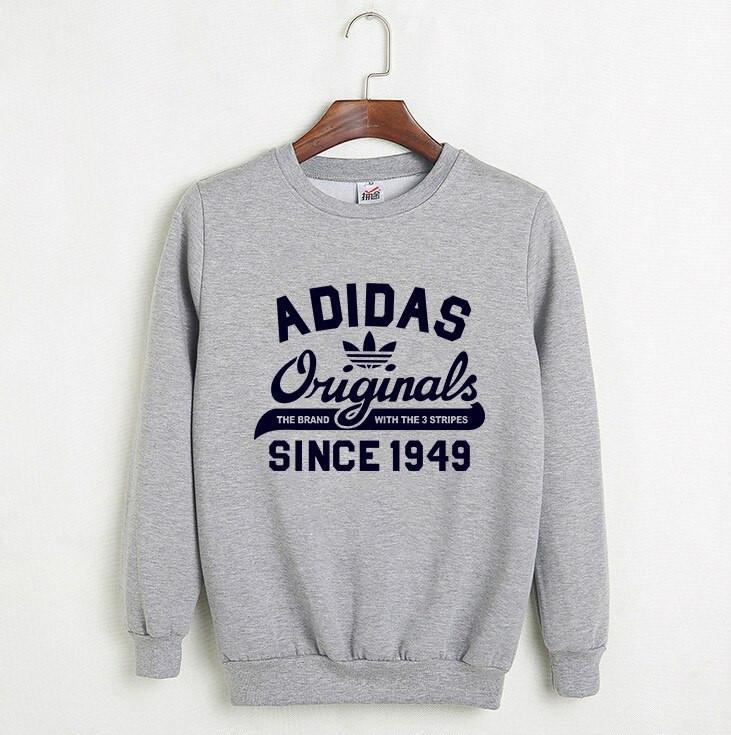 6f1a2059107a Свитшот мужской с принтом Adidas Originals 1949 Адидас Кофта серая (реплика)